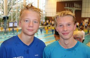 Lucas Humling och Julius Grell Sandvikens SHK. FOTO: SUSANNA KÄLLQUIST