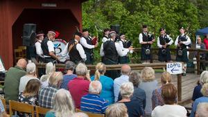 Tannags Pipe Band spelade de flesta säckpipeklassikerna, som till exempel