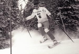 Det var inte bara Ingemar Stenmark som satte Sverige på den alpina kartan på 1980-talet. Jonas Nilsson från Hedemora blev världsmästare, och fick Folkare idrottsrings pris 1985.Foto: Nisse Schmidt