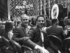 Bill Slater, en av producenterna tillsammans med Bill Keenan på NHL Awards i Las Vegas i juni. Foto: Privat