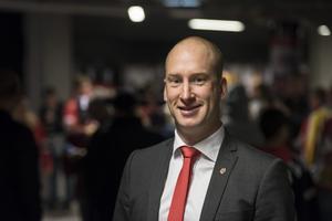 Johan Widebro ser en ljus framtid för Modo Hockey. Bild: Erik Mårtensson/TT