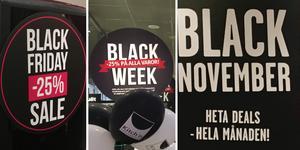 Utdragen rea. Black friday har blivit en hel svart vecka eller till och med en hel månad.
