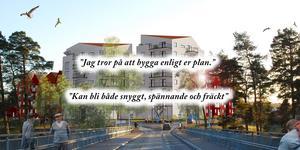 Alla är inte negativa till höga hus på Åkerö. (Bild: Arcum)