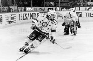 Stefan Nilsson var lagkapten den sista tiden i Leksand, och hjälpte föreningen att så SM-finalen 1989 mot Djurgården. Foto: Bildbyrån.