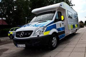 Mobilt poliskontor i Västmanland. Bild: Peter Jaslin