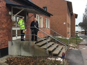 Hälsinggårdsskolan fick utrymmas efter en brand.