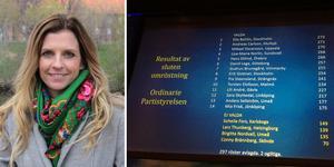 I valet till partistyrelsen fick Liza-Maria Norlin fjärde mest röster. Bilder: Roland Engström/arkiv och privat