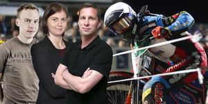 Jonas Brännmyr, Jessica Eriksson och Stefan Ericson tycker till om speedwayens silly season. Arkivfoto: Stefan Jerrevång/TT