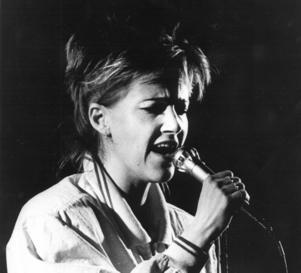 Marie Fredriksson på Folkets hus i Östersund 1987. Foto: ÖP-arkiv.