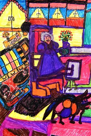 Anna-Lena berättar att hon inspireras bland annat av van Gogh och Picasso.