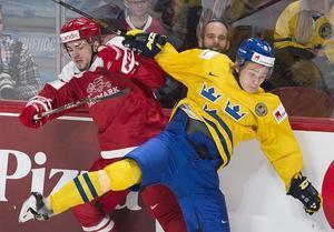 Christian Mieritz till vänster, här från ett närkontaktmöte med Sveriges Kristoffer Gunnarsson.