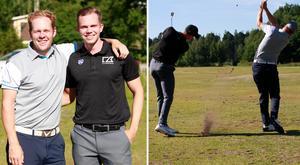 Daniel Jennevret och Erik Oja har hållit ihop sedan de var åtta år och började spela golf i Högbo.