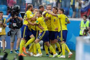 Sverige vann med 1–0 mot Sydkorea. Bild: AP.