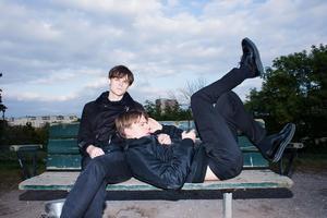 Pressbild. Duon Junior Brielle från Brunflo. Gabriel och David Röhdin.