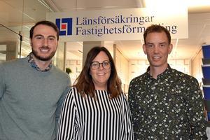 Maria Högberg har ägt Länsförsäkringar Fastighetsförmedling i Sundsvall sedan årsskiftet. Nu har kollegorna Artagan Keskin och Andreas Forsell gått in som delägare.