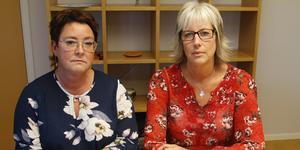 Ann-Katrin Lundin, Socialchef och Annika Modéen, verksamhetschef.