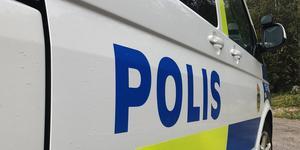 Polisen larmades till Jädersvägen i Arboga efter ett inbrott på ett företag där.