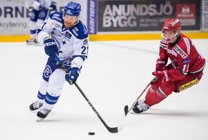 Dags för säsongens tredje heta möte mellan Modo och Leksand. Bild: Erik Mårtensson/Bildbyrån