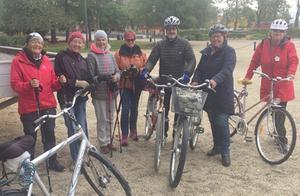 På bilden ser vi en del av deltagarna, från vänster Gunilla Engeström, Annicken Karell Håkansson, Berit Hoffman, Iréne Westberg, Greger Wikner, Karin Vikstenoch Marie Burgman. Foto: Per Söderberg
