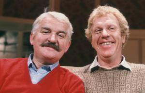 Något äldre, men fortfarande roliga vänner. Hasse och Tage 1981. Foto: Kjell Gustafsson/SVT