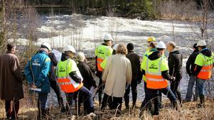 Miljööverdomstolen på syn vid Långforsen i maj 2015.