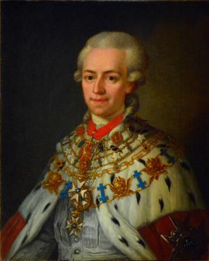 Författaren och Akademiledamoten Johan Gabriel Oxenstierna. Målning av Ulrika Pasch från 1700-talet.