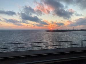 Solnedgång i norra Tyskland. Foto: Tord Börjesson