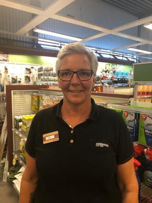 Tina Björkén, säljare Granngården i Birsta.