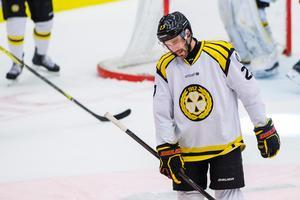 En deppig Drew Miller efter Brynäs fjärde förlust. Bild: Simon Eliasson/Bildbyrån.