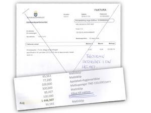 UD fakturerade Pelle Helgesson för en summa pengar som en UD-anställd hade betalat till en vakt på anstalten Mornaguia. 100 tunisiska dinarer mostvarade vid tillfället cirka 400 svenska kronor. Pelle Helgesson bestred genast fakturan från UD, och nu har han fått rätt.