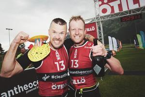 Johan Carlsson och Joakim Brunzell har i år satsat på att köra färre tävlingar i världscupen för att kunna träna hårdare inför VM. Foto: Akunamatata/ÖTILLÖ