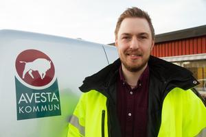 Filip Mauritzson flyttade från Östersund till Avesta när han tillträdde tjänsten som kommunens säkerhetssamordnare i oktober.