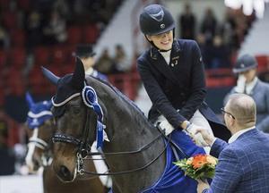 Sandra Dahlin och Ichi vann dubbelt i Helsingfors. Foto: Privat
