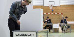 Ingen blev inkryssad i årets EU-val. En orsak är att valdeltagandet ökade samtidigt som andelen personkryss minskade. För att göra det lättare att bli inkryssad bör därför dagens spärr i personvalet minska från fem till två procent i EU-valet. Foto: Johan Nilsson, TT.