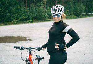 Katja Fedorova, gravid cyklist. Foto: Privat