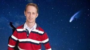 Forskaren Eric Stempels tror inte att det var en meteorid som skapade smällen på fredagen. (Fotomontage.)Foto: Paul White/TT