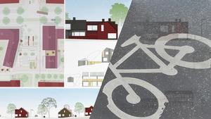 De som flyttar in i nya tätorten Källberga ska inte behöva vara helt bilberoende, menar MP.Foto: 3DO Arkitekter/Anders Wiklund/TT