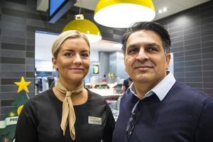 Kerstin Hedlund och Irfan Ahmad från McDonald's var båda laddade och förväntansfulla inför invigningen.