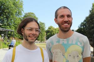 Sebastian Hegedüs och Andreas Pollak, från bandet Kluster.