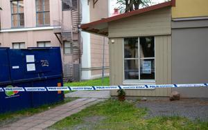 Den brutala misshandeln inträffade vid museet i Hudiksvall.