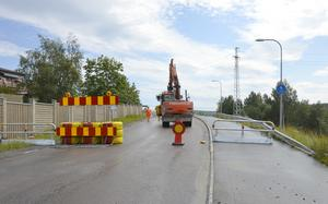 Under fredagen öppnar Västra vägen och Bergsåkersbron igen.