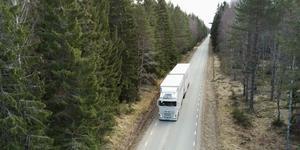 """""""Lastbilen är i regel det enda alternativet där hamnar, flygplatser och järnvägar inte finns, vilket ofta är fallet i Dalarna"""", skriver Transportföretagen. Foto: Fredrik Sandberg/TT"""