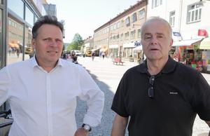 Johnny Karlsson (L) och Jan Karlsson (C) lyfter fram den gamla tanken på att glasa in centrala Ludvika i en gemensam motion.