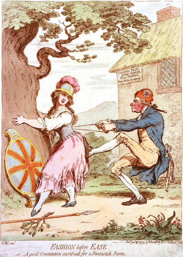 Korsettmakaren Thomas Paine med en kopia av