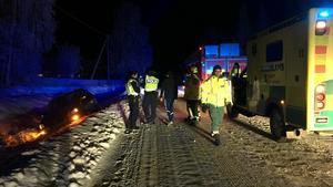 Ingen person skadades i olyckan.