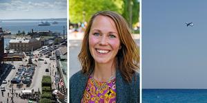 Therese Metz bokade ingen flygresa i fjol genom kommunen. Flest korta resor gick till Helsingborg. Foto: Björn Lindgren/Emma Åhman/Erik Johansen