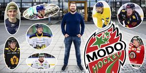 Fredrik Glader (mitten) ansvarar sedan en dryg vecka tillbaka för Modos spelarrekryteringar. Foto: Robbin Norgren.