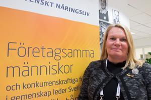 Kristin Lahed, regionchef på Svenskt näringsliv i Västmanland.
