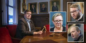 Sven-Erik Lindestam (S), Jonna Källström Börresson (V), Viktor Wärnick (M) och Daniel Persson (SD) säger alla att de inte kände till den planerade skatteplaneringen när de tog beslut i fullmäktige.