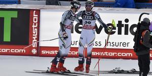 Felix Monsén och Alexander Köll efter målgången i Åre.
